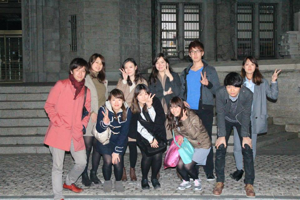 Members of the Granite Tower and us at Korea University