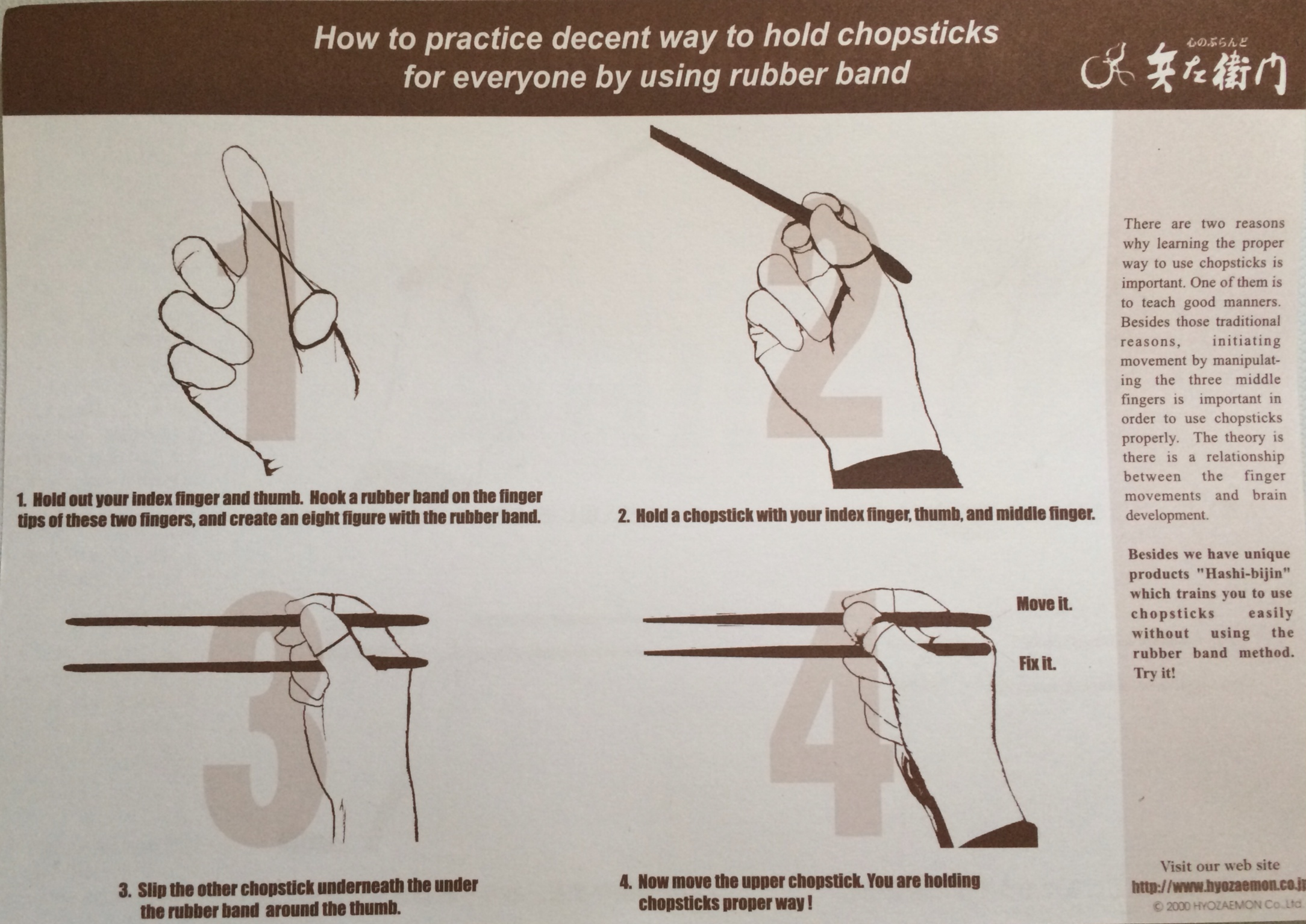 How to practice the proper way to use chopsticks