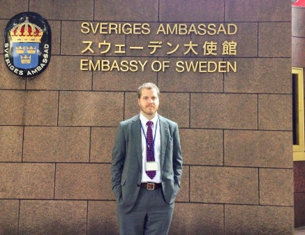 Mr. Adam Beije, Senior Officer of, Press, Information and Culture of the Embassy at Sweden