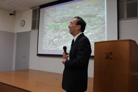 The President of Keio University, Atsushi Seike