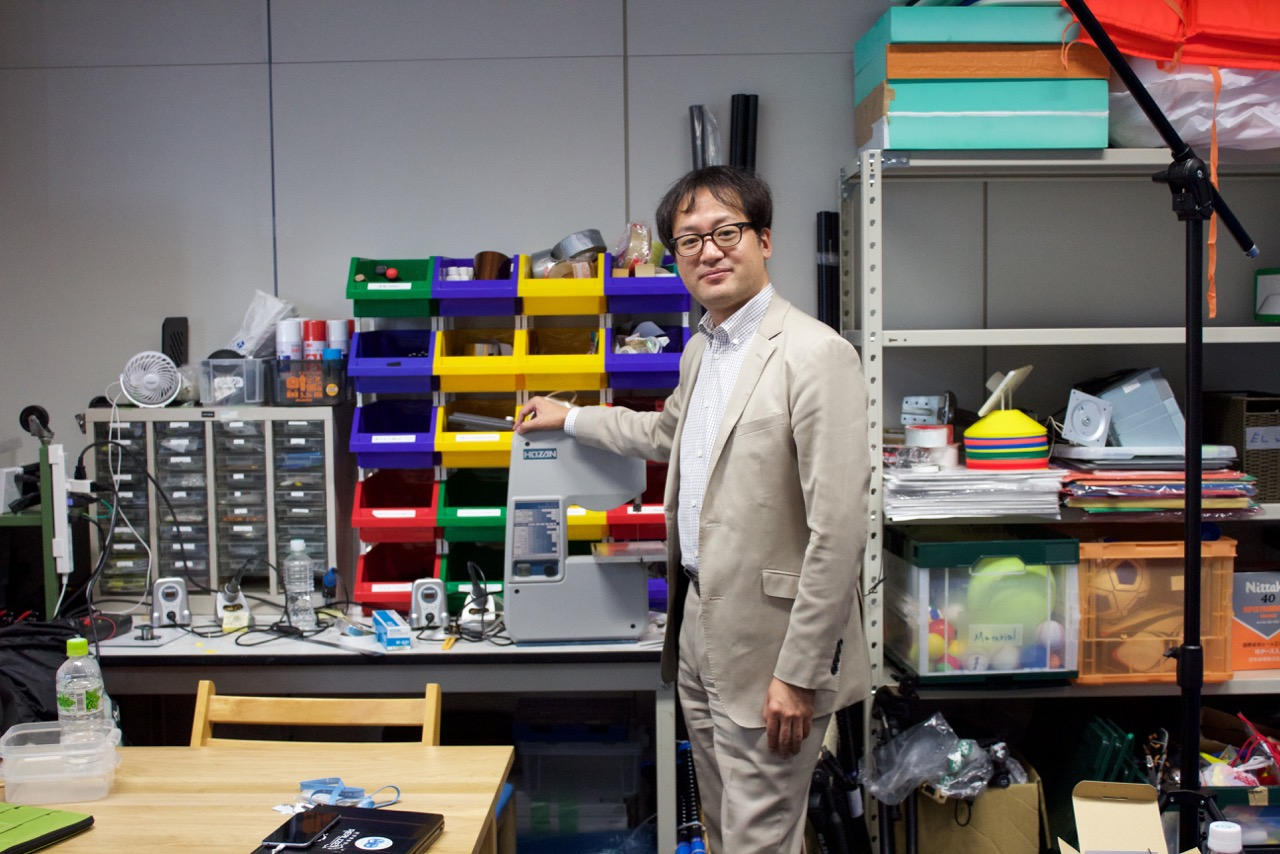 Guest Professor Inami Masahiko sees this huge business of chance.
