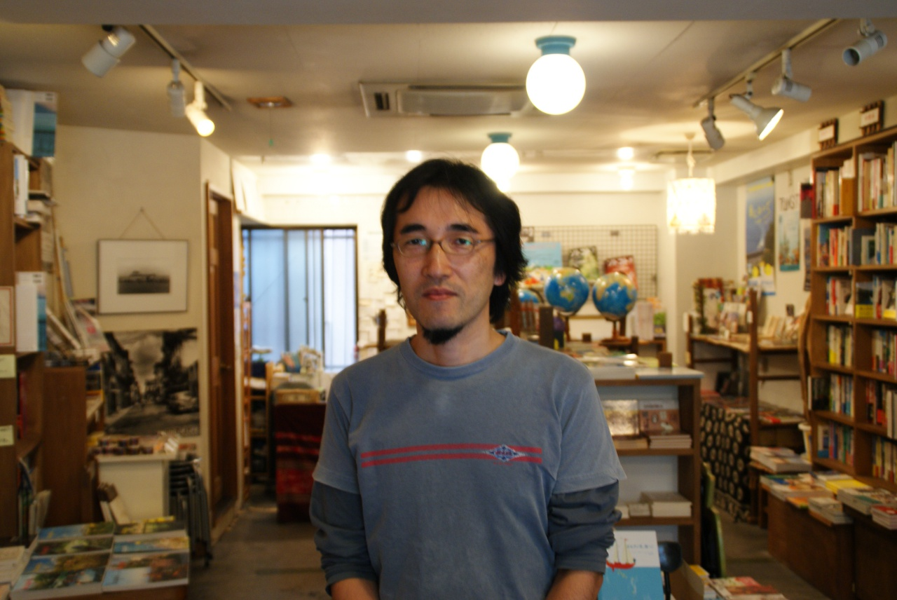 The owner of Nomado, Kawada in Nomado(Mita campus)