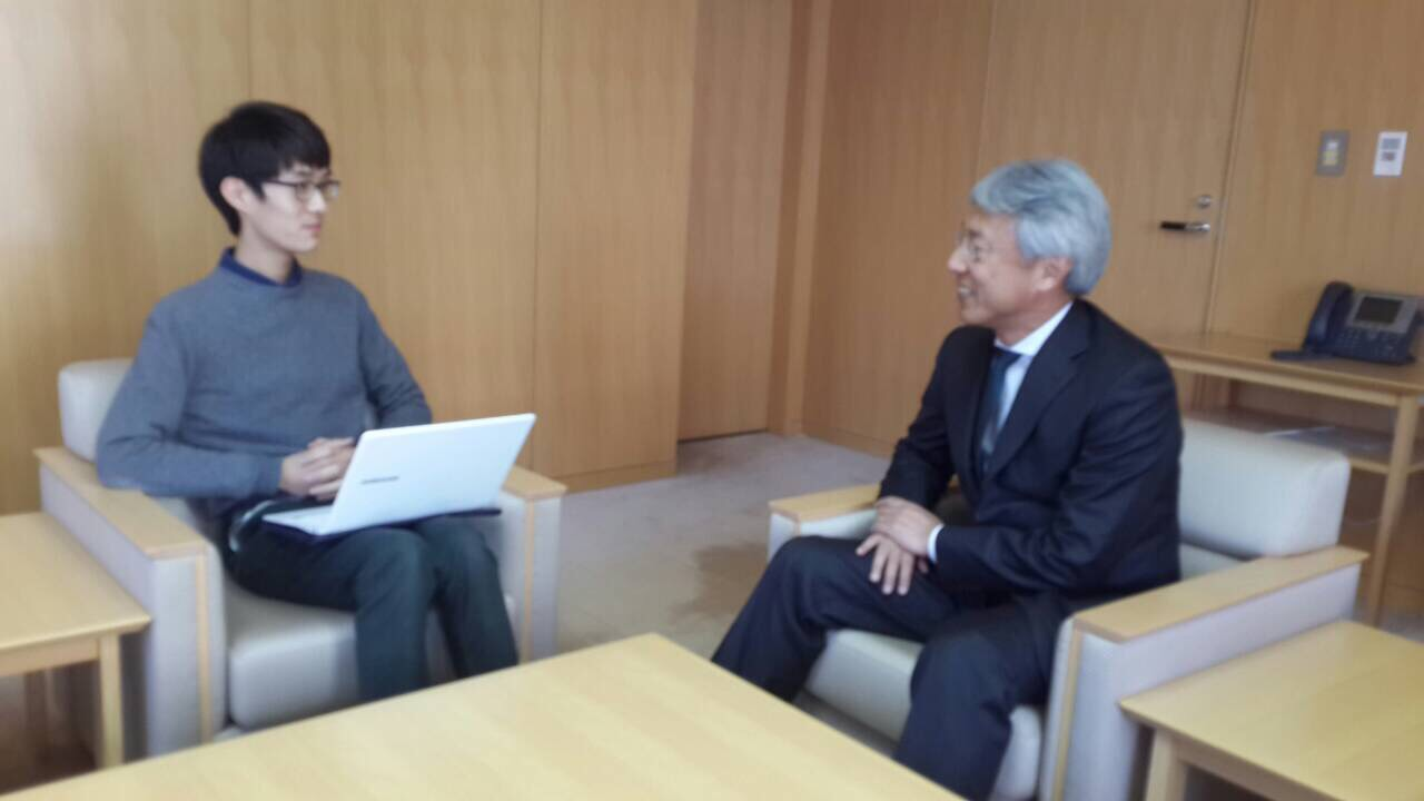 Interview with JETRO Director-General Shigeki Maeda at the JETRO Head Office, Ark Hills.