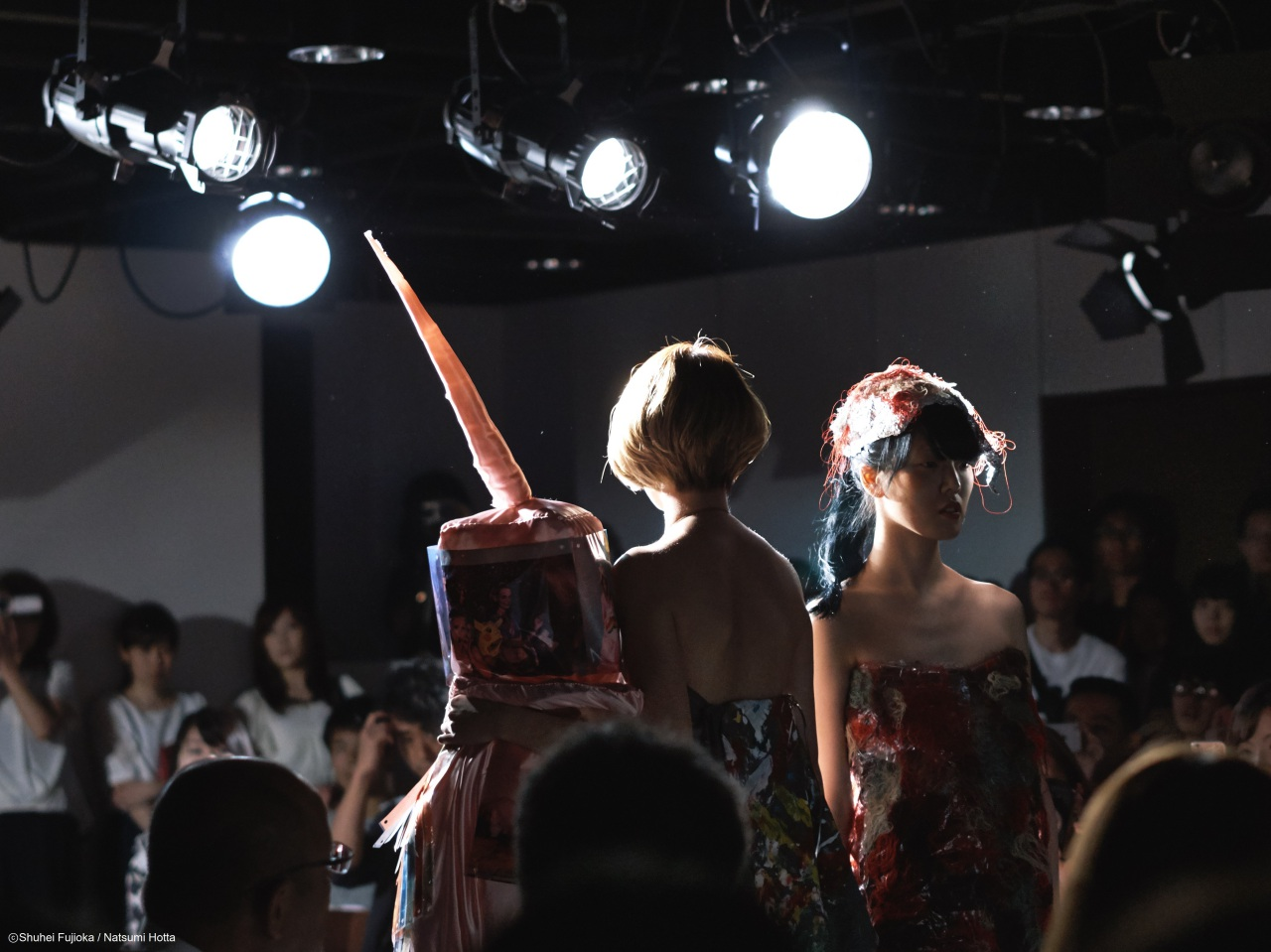 In this photo, models are wearing the clothes created by the images of South Sudan, on the stage of Tokyo Africa Collection 2016, Shibuya, Tokyo. (Aug, 28th)
