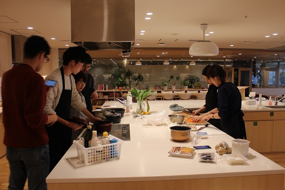 Exchange students and members of Mita Campus cooked together.   Picture: Mita Campus
